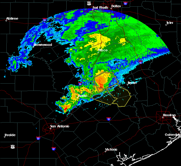 Radar Image for Severe Thunderstorms near Caldwell, TX at 4/9/2020 3:36 PM CDT