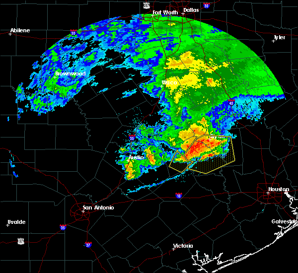 Radar Image for Severe Thunderstorms near Caldwell, TX at 4/9/2020 4:18 PM CDT