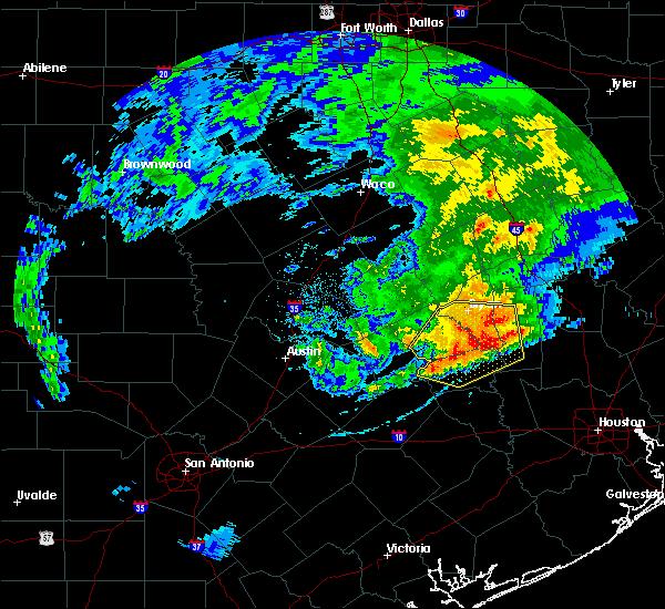 Radar Image for Severe Thunderstorms near Navasota, TX at 4/9/2020 4:37 PM CDT