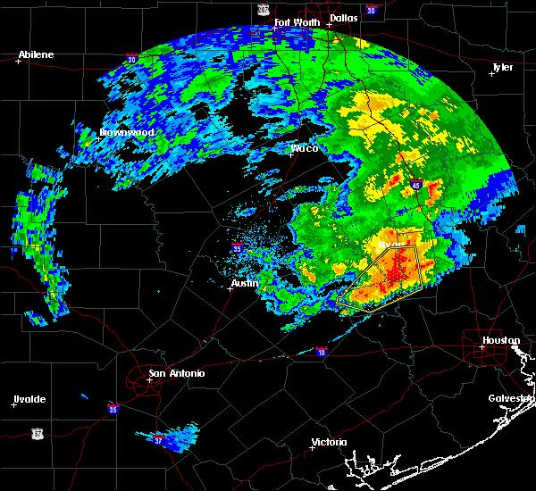 Radar Image for Severe Thunderstorms near Navasota, TX at 4/9/2020 4:49 PM CDT