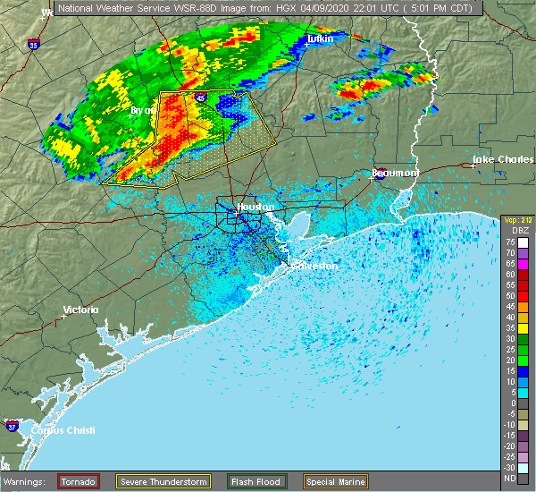 Radar Image for Severe Thunderstorms near Oakhurst, TX at 4/9/2020 5:03 PM CDT