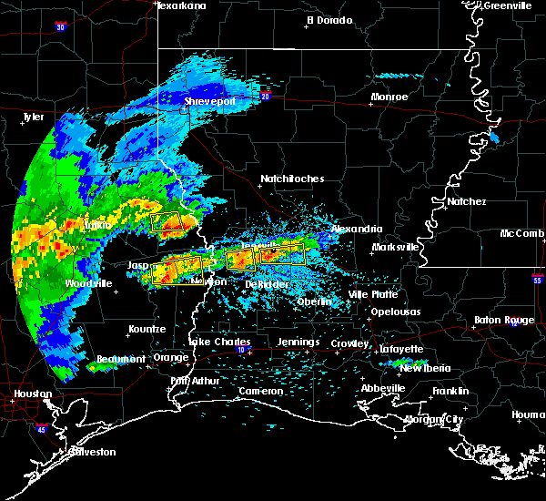 Radar Image for Severe Thunderstorms near Milam, TX at 4/9/2020 5:49 PM CDT