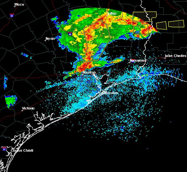 Radar Image for Severe Thunderstorms near Oakhurst, TX at 4/9/2020 6:14 PM CDT