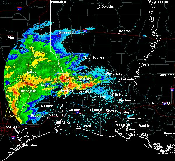 Radar Image for Severe Thunderstorms near Oakdale, LA at 4/9/2020 6:24 PM CDT