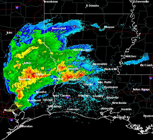 Radar Image for Severe Thunderstorms near Oakdale, LA at 4/9/2020 6:48 PM CDT