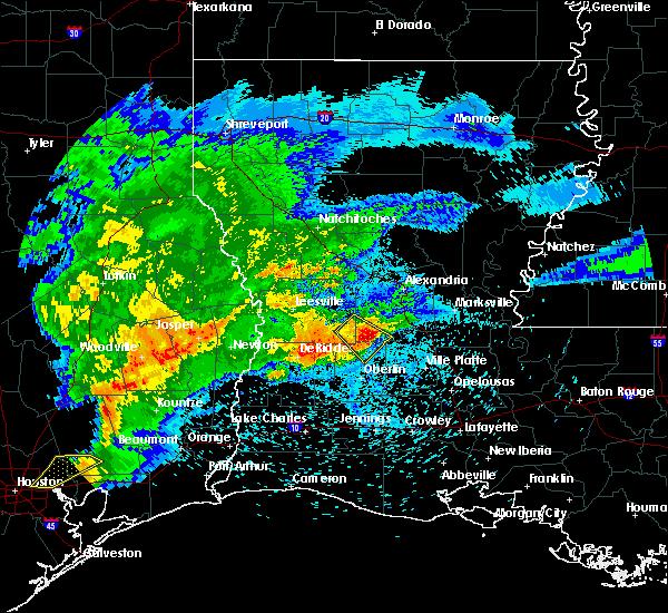 Radar Image for Severe Thunderstorms near Oakdale, LA at 4/9/2020 7:02 PM CDT