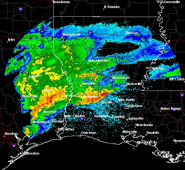 Radar Image for Severe Thunderstorms near Oakdale, LA at 4/9/2020 7:13 PM CDT