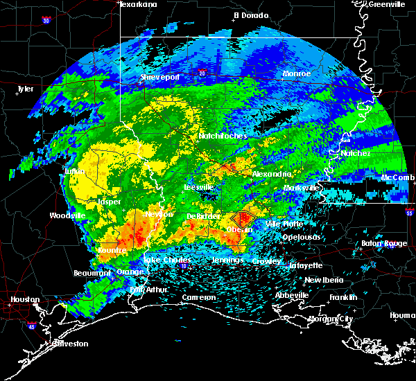 Radar Image for Severe Thunderstorms near Oakdale, LA at 4/9/2020 7:36 PM CDT