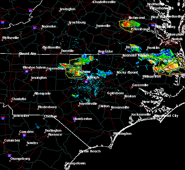 Radar Image for Severe Thunderstorms near Durham, NC at 6/25/2015 7:35 PM EDT