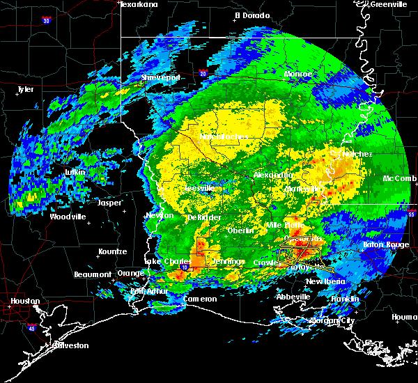 Radar Image for Severe Thunderstorms near Port Barre, LA at 4/9/2020 8:41 PM CDT