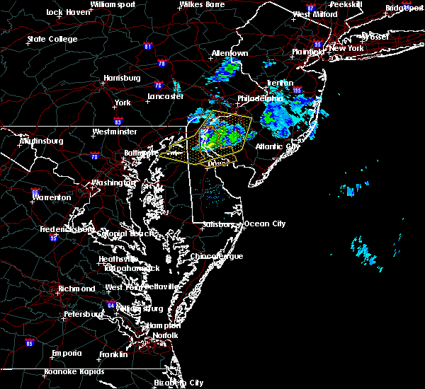 Radar Image for Severe Thunderstorms near Clayton, NJ at 4/10/2020 12:21 AM EDT