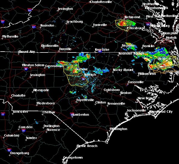 Radar Image for Severe Thunderstorms near Apex, NC at 6/25/2015 7:40 PM EDT