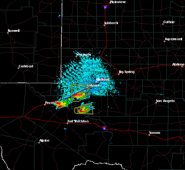 Radar Image for Severe Thunderstorms near West Odessa, TX at 4/10/2020 6:06 PM CDT