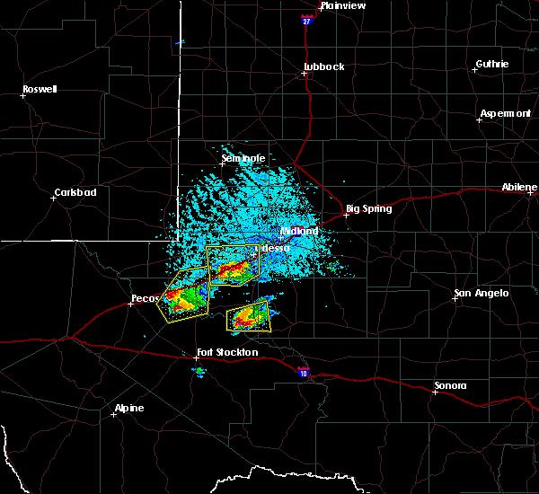 Radar Image for Severe Thunderstorms near Wickett, TX at 4/10/2020 6:18 PM CDT