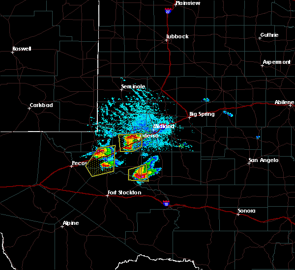 Radar Image for Severe Thunderstorms near Kermit, TX at 4/10/2020 6:38 PM CDT