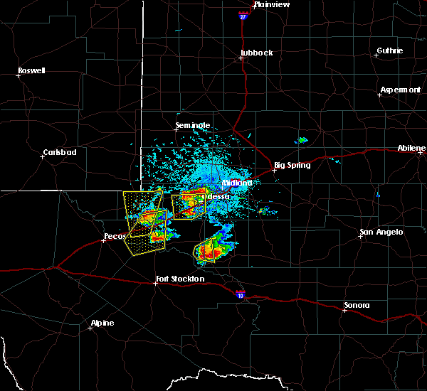 Radar Image for Severe Thunderstorms near Kermit, TX at 4/10/2020 6:53 PM CDT