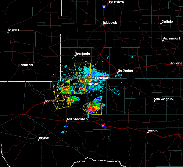 Radar Image for Severe Thunderstorms near McCamey, TX at 4/10/2020 7:00 PM CDT