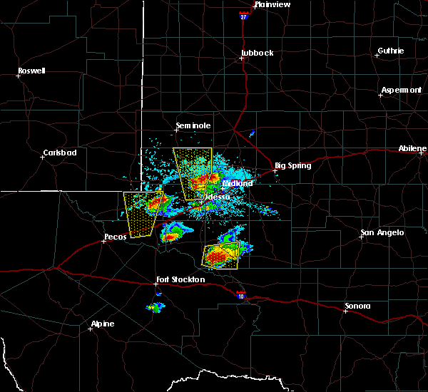 Radar Image for Severe Thunderstorms near Kermit, TX at 4/10/2020 7:10 PM CDT