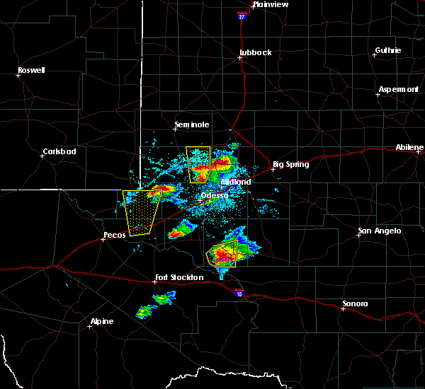 Radar Image for Severe Thunderstorms near Los Ybanez, TX at 4/10/2020 7:29 PM CDT