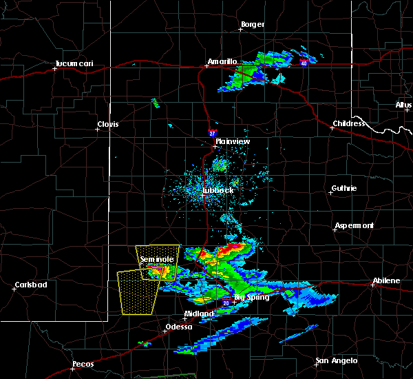 Radar Image for Severe Thunderstorms near Post, TX at 4/10/2020 8:45 PM CDT