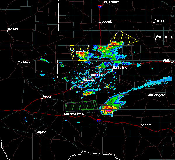 Radar Image for Severe Thunderstorms near Seminole, TX at 4/10/2020 8:53 PM CDT