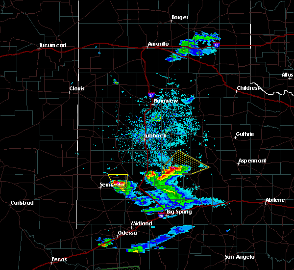Radar Image for Severe Thunderstorms near Post, TX at 4/10/2020 9:08 PM CDT