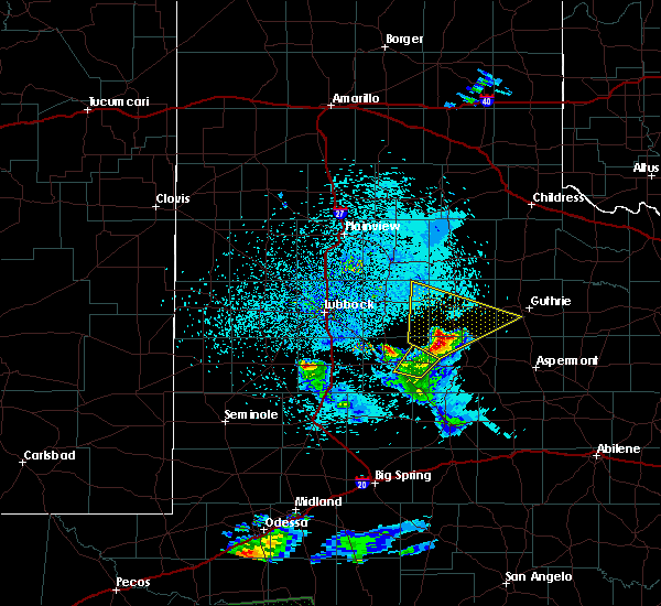 Radar Image for Severe Thunderstorms near Dickens, TX at 4/10/2020 9:49 PM CDT
