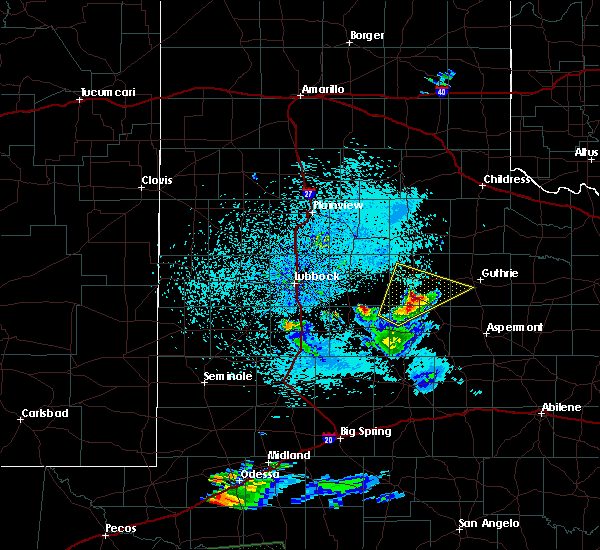 Radar Image for Severe Thunderstorms near Spur, TX at 4/10/2020 9:57 PM CDT
