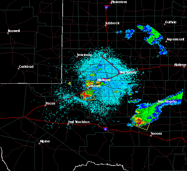 Radar Image for Severe Thunderstorms near Odessa, TX at 4/10/2020 10:30 PM CDT