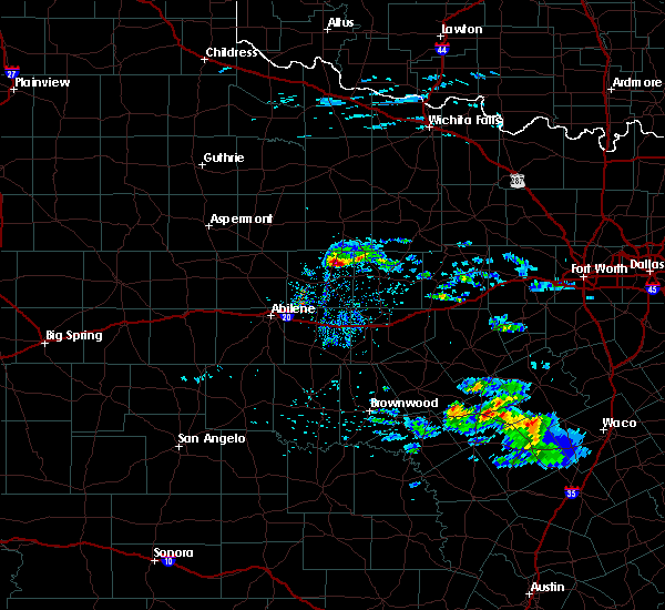 Radar Image for Severe Thunderstorms near Woodson, TX at 4/11/2020 10:03 AM CDT