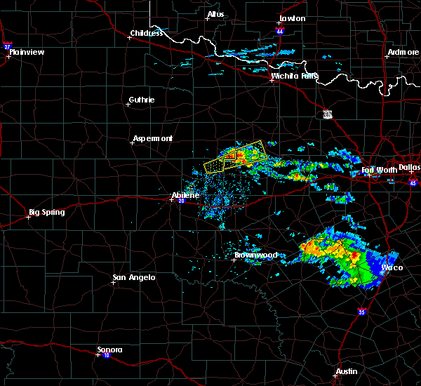 Radar Image for Severe Thunderstorms near Woodson, TX at 4/11/2020 10:23 AM CDT