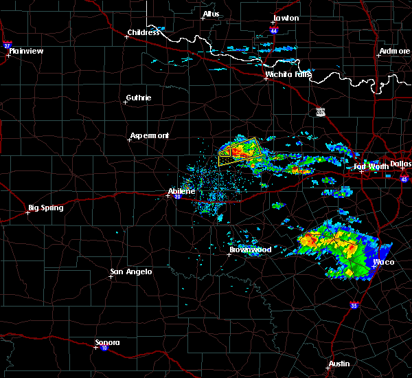 Radar Image for Severe Thunderstorms near Woodson, TX at 4/11/2020 10:31 AM CDT
