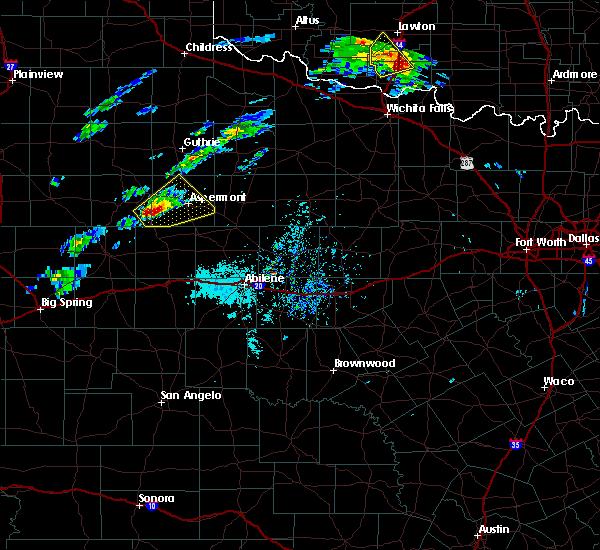 Radar Image for Severe Thunderstorms near Aspermont, TX at 4/11/2020 2:41 PM CDT