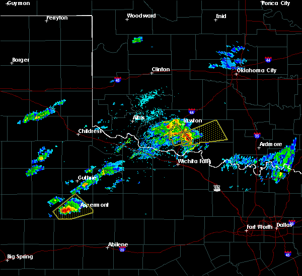 Radar Image for Severe Thunderstorms near Marlow, OK at 4/11/2020 2:44 PM CDT