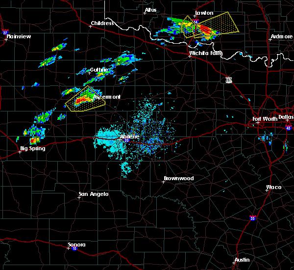 Radar Image for Severe Thunderstorms near Aspermont, TX at 4/11/2020 2:51 PM CDT