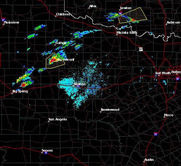 Radar Image for Severe Thunderstorms near Aspermont, TX at 4/11/2020 3:01 PM CDT