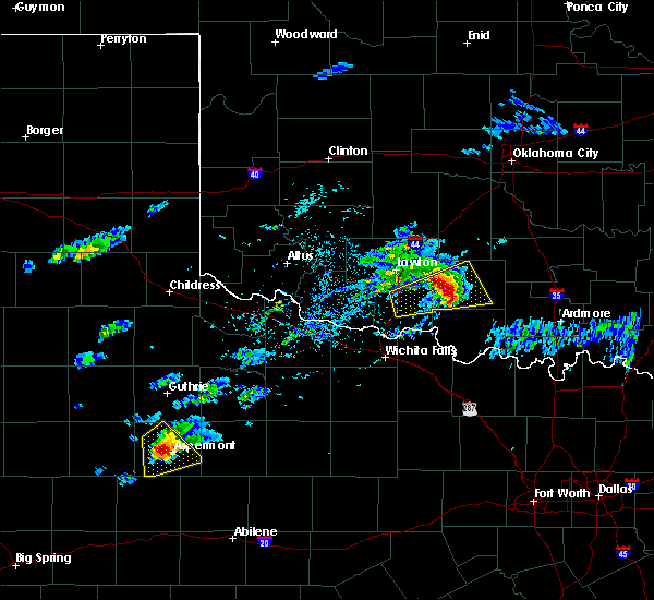 Radar Image for Severe Thunderstorms near Marlow, OK at 4/11/2020 3:06 PM CDT