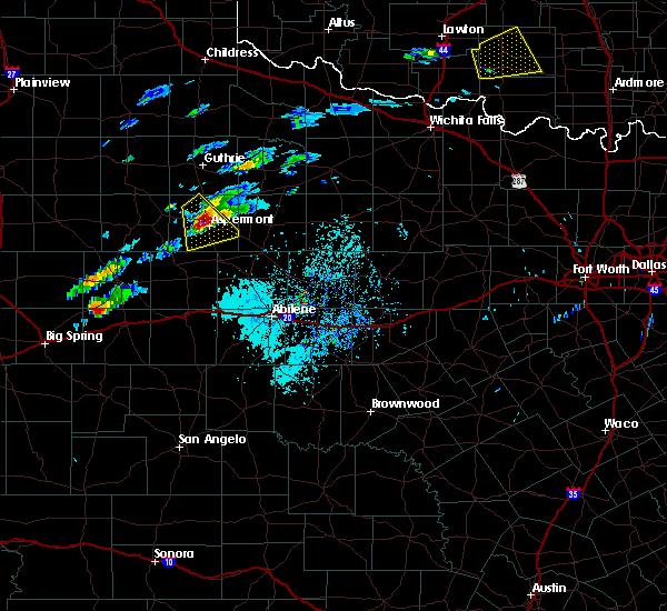 Radar Image for Severe Thunderstorms near Aspermont, TX at 4/11/2020 3:11 PM CDT