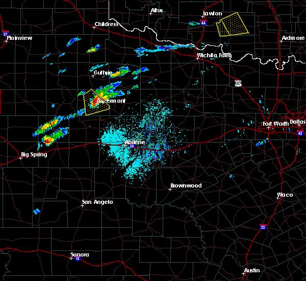 Radar Image for Severe Thunderstorms near Aspermont, TX at 4/11/2020 3:17 PM CDT