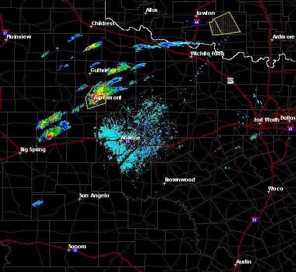 Radar Image for Severe Thunderstorms near Aspermont, TX at 4/11/2020 3:23 PM CDT