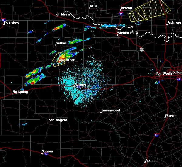 Radar Image for Severe Thunderstorms near Aspermont, TX at 4/11/2020 3:30 PM CDT
