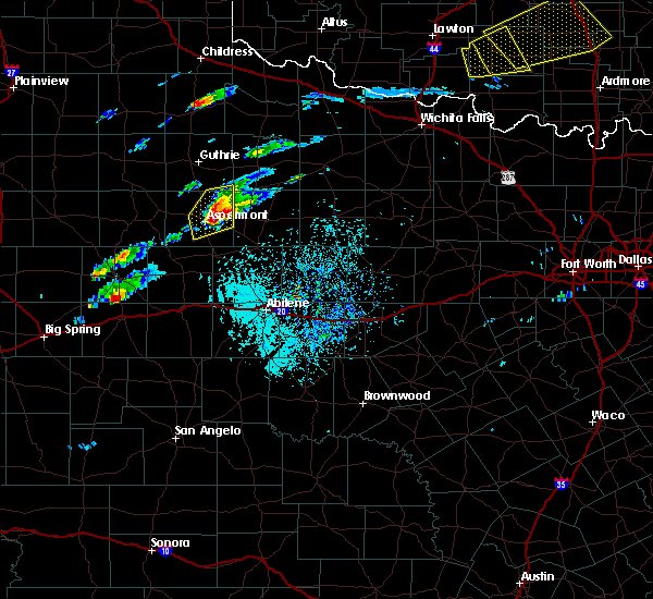 Radar Image for Severe Thunderstorms near Rochester, TX at 4/11/2020 3:33 PM CDT