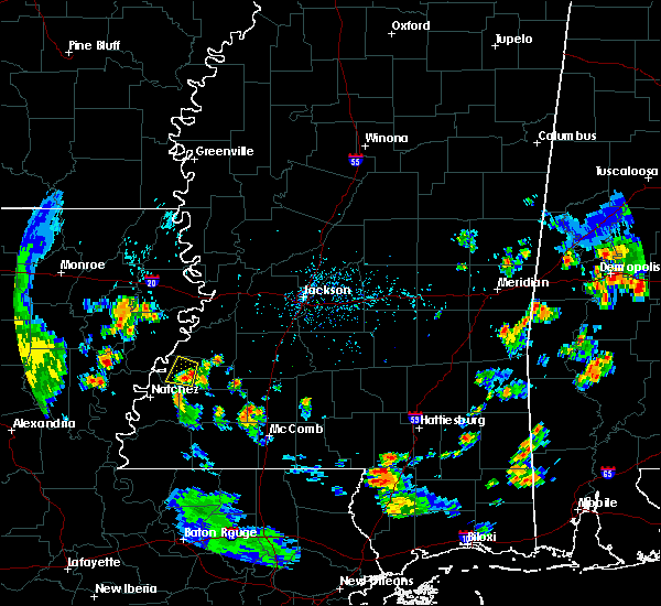 Radar Image for Severe Thunderstorms near Fayette, MS at 6/25/2015 6:45 PM CDT