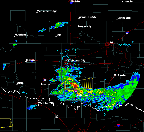 Radar Image for Severe Thunderstorms near Stonewall, OK at 4/11/2020 3:58 PM CDT