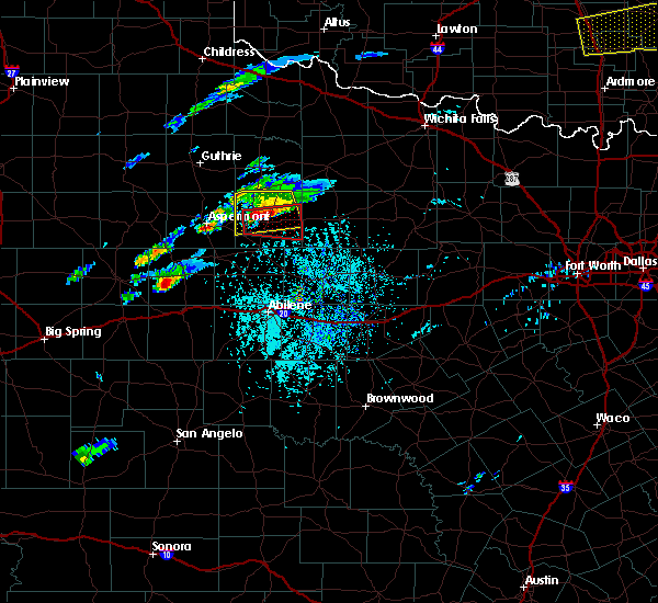 Radar Image for Severe Thunderstorms near Stamford, TX at 4/11/2020 4:10 PM CDT