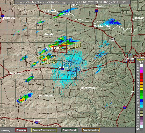 Radar Image for Severe Thunderstorms near Elbert, TX at 4/11/2020 4:41 PM CDT