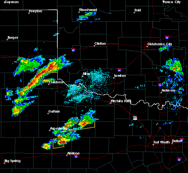 Radar Image for Severe Thunderstorms near Dodson, TX at 4/11/2020 5:27 PM CDT
