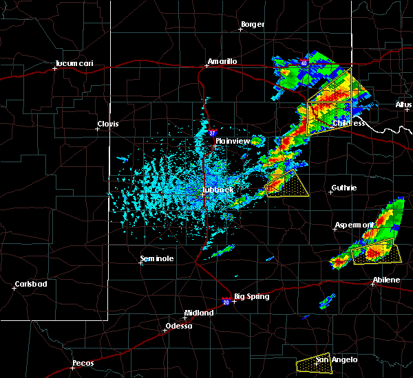 Radar Image for Severe Thunderstorms near Dickens, TX at 4/11/2020 5:39 PM CDT
