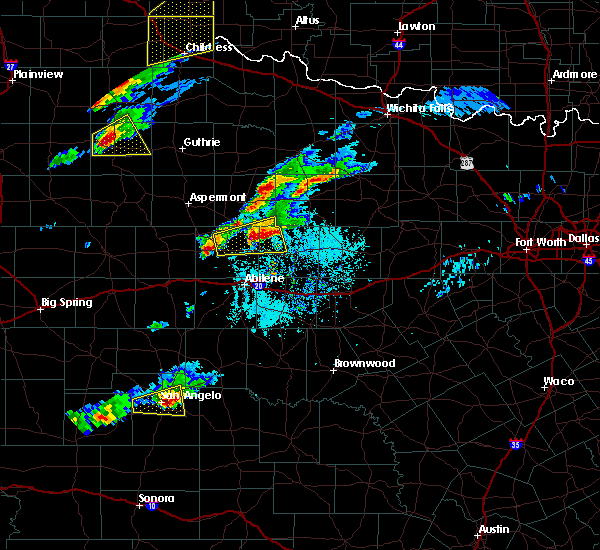 Radar Image for Severe Thunderstorms near Lueders, TX at 4/11/2020 5:57 PM CDT