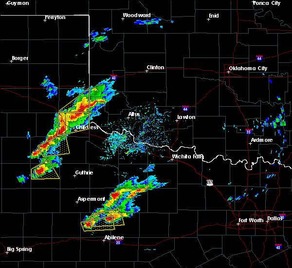 Radar Image for Severe Thunderstorms near Carter, OK at 4/11/2020 5:58 PM CDT